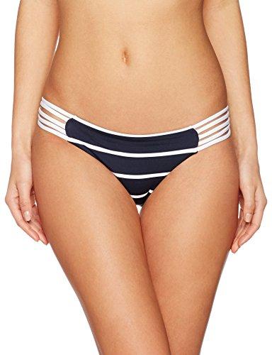 Seafolly Damen Castaway Stripe Multi Rouleau Brazilian Bikinihosen,,per pack Blau (indigo Indigo),38 (Herstellergröße:12) (Bikini-hose Tie Side Seafolly)