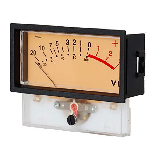 Akozon VU Meter 2 Pcs VU Panel Meter Warm Back Light Recording Audio Level Amp with Driver Board