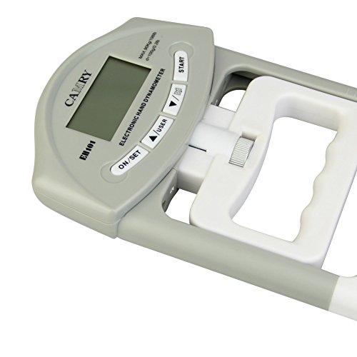 Zantec edtara Elektronische Hand Grip Stärke-Dynamometer Meter mit großem LCD-Messbereich 1–90KGF Bildschirm Automatische Erfassung Hand Grip Power Gerät, grau (Elektronisches Dynamometer)