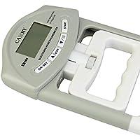 Mylujo Agarrador electrónico de la Fuerza de la Mano Medidor del dinamómetro Captura automática Dispositivo de Poder de Agarre de la Mano con Pantalla LCD Grande Gray