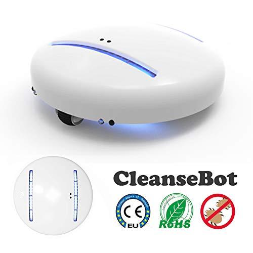 Sendowtek Cleansebot, Robot Limpiador, Controlador de Acaros del Polvo, Controlador Acaros Robóticos, UV-C Luz Pasar la Aspiradora Limpiador, Limpieza de Piloto Automático para Cama/Sofá/Juguete