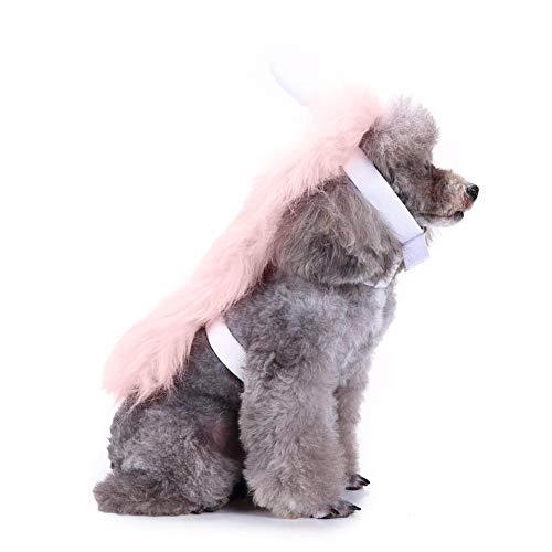 Welltobuy Pet costume di Halloween vestito carino a forma di unicorno rosa costume Headband Fancy Dress Cosplay vestiti fascia accessorio per Pet Puppy gatto