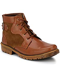 Real Blue Men Leather Lace up ankle shoe.(Casual Shoe   Brown Color Boot   Ankle Length Boot   Lace Up shoe   Party Wear Boot   Office Use Boot   Daily use Boot   Outdoor Shoe  )