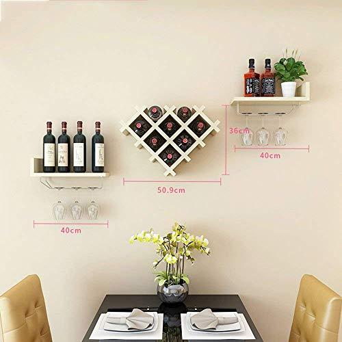 XQY Weinregale Weinregal Weinbar Moderne Flasche an der Wand, Weinflaschenregal, horizontale...