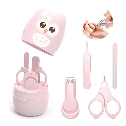 Nagelknipser Neugeborene set 4-teiliges, für Fingernägel und Fußnägel mit Baby Nagelknipser, Nagelschere, Nagelfeile und Pinzette für Kinder und Kleinkinder in süßer Eule Geschenk-Verpackung