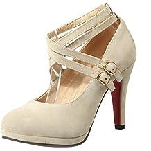 suchergebnis auf f r beige high heels mit riemchen. Black Bedroom Furniture Sets. Home Design Ideas