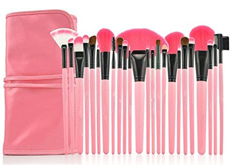 rosennie-24pcs-pink-pouch-bag-case-superior-soft-cosmetic-makeup-brush-set-kit