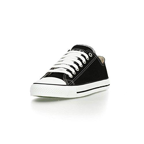 Ethletic Sneaker vegan LoCut – Farbe jet black / white aus Bio-Baumwolle – low Sneaker - 2