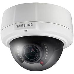 Samsung scv2081rp Caméra dôme d'extérieur Anti Vandale, w5, 600TVL, IR, ICR, 2,8-10mm, iP66iK10, Blanc