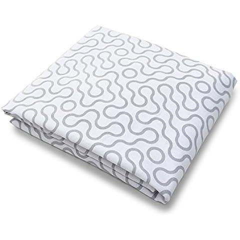 Spot On Square Unisciti in cotone organico, per lettino, in percalle, con angoli elasticizzati