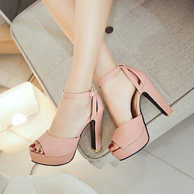 LvYuan Da donna-Sandali-Tempo libero Ufficio e lavoro Casual-Altro-Quadrato-PU (Poliuretano)-Nero Rosa Bianco Beige Pink
