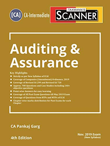 Scanner-Auditing & Assurance (CA-Intermediate)(Nov 2019 Exam-New Syllabus)(4th Edition June 2019)
