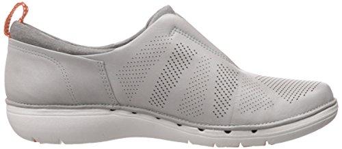 Clarks Un Spirit Slip-on Loafer Light Grey Leather