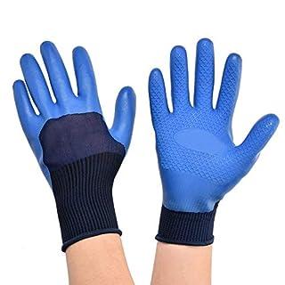 Gants de travail imperméables en latex, antidérapants, résistants à l'usure, pour jardinage/travail