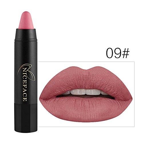 Liquidation !!! OSYARD Beauté Ladies Beauté Maquillage Imperméable Sexy Pen Hydrating Longue durée Gloss Pen(#09)