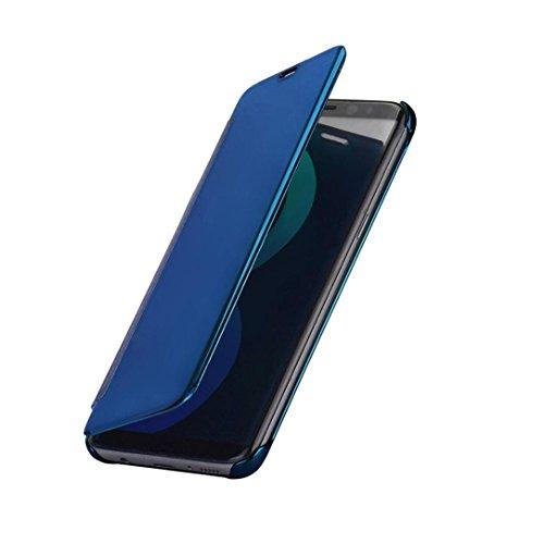 ouneedr-fur-samsung-galaxy-s8-hulle-geschenk-glitzer-spiegel-luxus-smart-fenster-schlaf-wake-up-flip