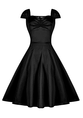 MISSEUROUS Damen Elegant ärmellose Boot Hals Retro Party Kleid ...