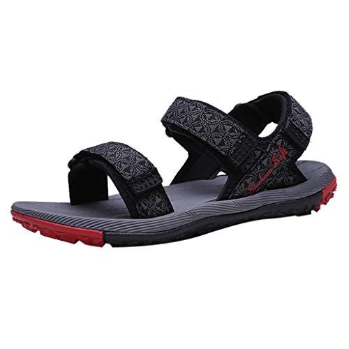 iHAZA Herren Sandale Sommer Vintage Casual Flip Flops Schuhe