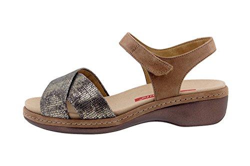 Scarpe donna comfort pelle Piesanto 8805 sandali soletta estraibile comfort larghezza speciale