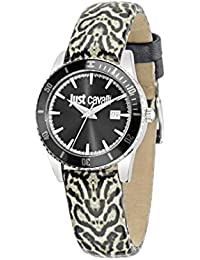 Just Cavalli Damen-Armbanduhr JUST IN TIME Analog Quarz Leder R7251202504