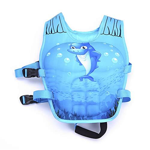 DASGF Schwimmjacke FüR Kinder,Aufblasbare Armschwimmer,Aufblasbare Armschwimmer Zum Schwimmenlernen,Neue Hohe QualitäT,SchwimmhüLle Schaum,2-6 Jahre Alt,14-25kg,Shark -