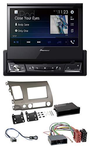 caraudio24 Pioneer AVH-A7100BT Bluetooth CD MP3 DVD USB Autoradio für für Honda Civic Hybrid 06-10 FD3 Rauch-Silber H. 264 Hybrid