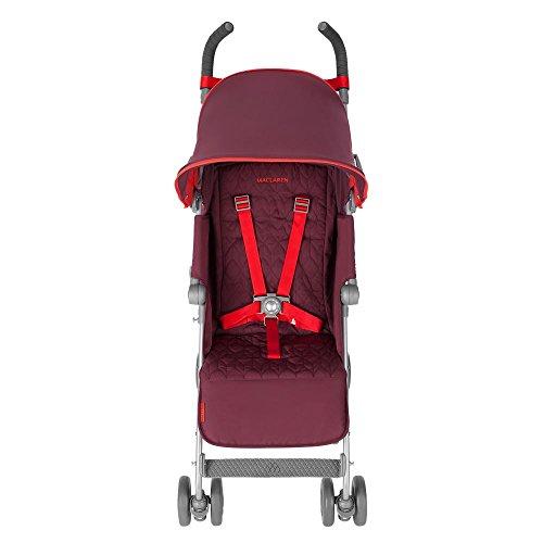 Maclaren Quest - Silla de paseo, nueva colección, color ciruela y rojo