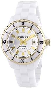 Dyrberg/Kern - TF 10172 - Montre Femme - Quartz Analogique - Aiguilles Lumineuses - Bracelet Céramique Blanc