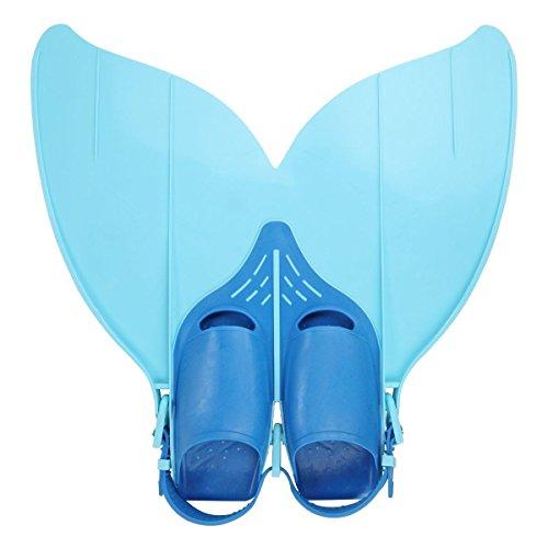 Yosoo Kinder Monoflosse Monofin Meerjungfrau Flossen Schwimmen Training (blau)