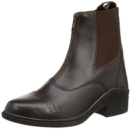 Just Togs Beaumont Boots Jodhpur en cuir avec zip de fermeture