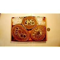 Boviswert Septarie, Geode, große Septarien, 3 Stück, ca. 1150g, mit wunderschönen Strukturen. preisvergleich bei billige-tabletten.eu