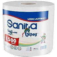 Sanita Gipsy 1500 Sheets Maxi Tissue Roll,White