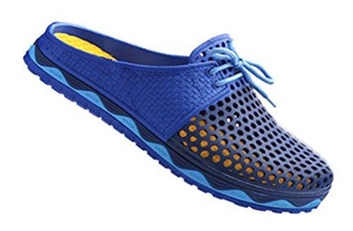 Fortuning's JDS estate traspirabilità moda scarpe da spiaggia scavano fuori pantofole per le donne e gli uomini Blu