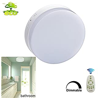 18W Round Remote Control Led Ceiling Light for Bedroom Dimmable, 3 Colour Temperature. Waterproof IP44 Flush Ceiling Light Fitting for Living Room, Bathroom, Kitchen, Hallway. Input 86-265V