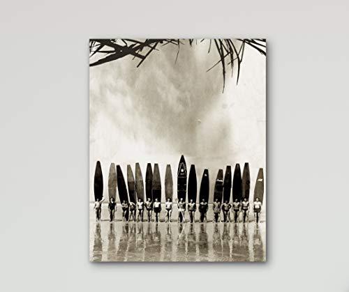 Surf Vintage Hawaii-art (lmf379581 Canvas Print Surf Art Vintage Photography Hawaii Decor Surfing Art Canvas Art Beach Art Surfboards Vintage Surf Print Surf Photography Bedroom Bathroom Decoration Wall Art Wall Decor)