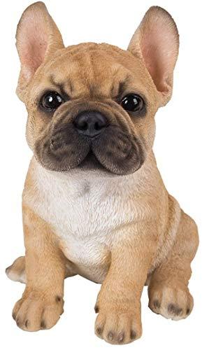 Figura de cachorro de Bulldog Francés en resina