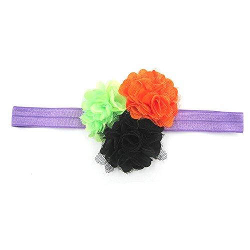 VEMOW Mode Nette Baby Mädchen Halloween Stirnband Bogen Elastisches Haar Kopf Haarband Fotografie Requisiten(Mehrfarbig B, Freie Größe)