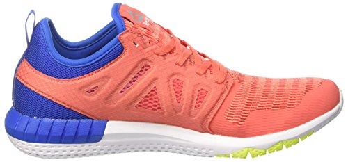 Reebok Damen Zprint 3d Laufschuhe Orange (Fire Coral/stellar Pnk/awsm Blue/sol Yllw/wht)
