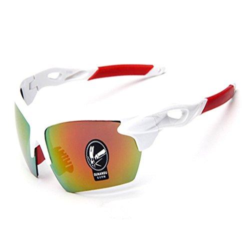 O-c -  occhiali da sole  - uomo white frame, red silver