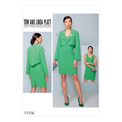 Vogue Patterns Patrons/Petite Veste et Robe, Multicolore, Tailles 14-22