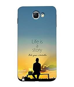 PrintVisa Inspirational Saying 3D Hard Polycarbonate Designer Back Case Cover for Samsung Galaxy Note 2 :: Samsung Galaxy Note Ii N7100