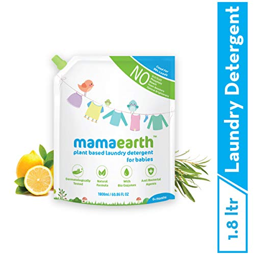 Mamaearth's Plant Based Baby Laundry Liquid Detergent Refill Pack 1800 ml