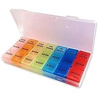 Pillenbox ~ 7 Tage Medikamente Aufbewahrungskoffer - Pillendose mit 21 Fächern preisvergleich bei billige-tabletten.eu