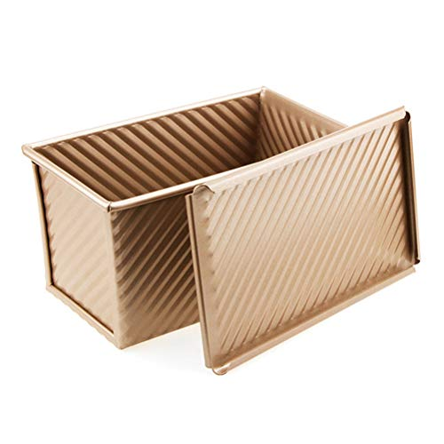 BESTONZON Non-Stick Rechteck Loaf Pan,Backformen Laibpfanne mit Deckel Non-Stick-Brotform mit Deckel Aluminium-non-stick Loaf Pan
