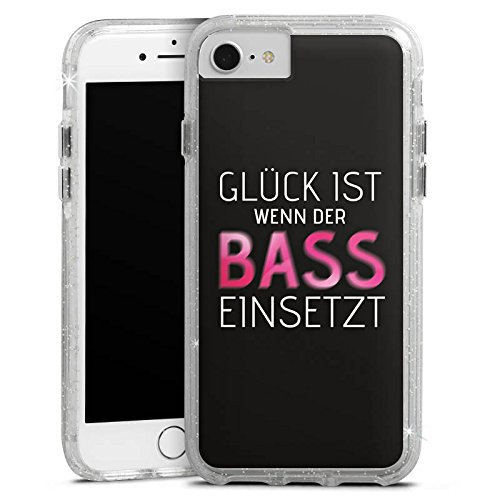 Apple iPhone 6s Bumper Hülle Bumper Case Glitzer Hülle Sprüche Sayings Phrases Bumper Case Glitzer silber