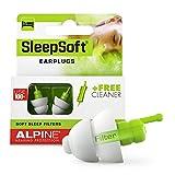 Alpine SleepSoft Ohrstöpsel (2019) - Schalldämpfer Schnarchen und verbessert den Schlaf - Soft-Filter zum Schlafen - Hypoallergenes Material - Wiederverwendbare Gehörschutz