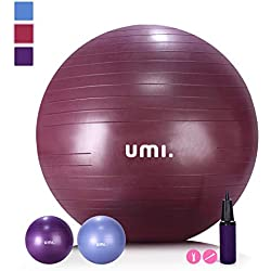 Umi. by Amazon - Pelota de Ejercicio Gym Ball para fitness, yoga, pilates, Embarazo y Sentarse,65 or 75 cm