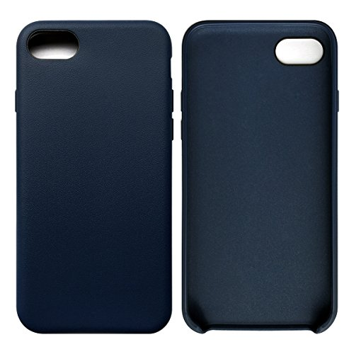 iPhone 7 / iPhone 8 Case Tasche HandyHülle Ultra-dünne Leder-Muster Slim Silikon Case Leicht TPU Ultra Thin Soft Stoßfest Shockproof Staubdicht Schutzhülle Covers Sleeve Leder für iPhone 7 / iPhone 8 Saphirblau