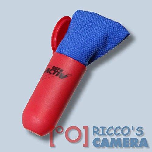 Reinigungstuch 15x15 cm Microfasertuch in roter Aufbewahrungsbox Reinigungstuch aus Microfaser Putztuch für Kamera Objektiv Filter Brille Handy Ipod Display