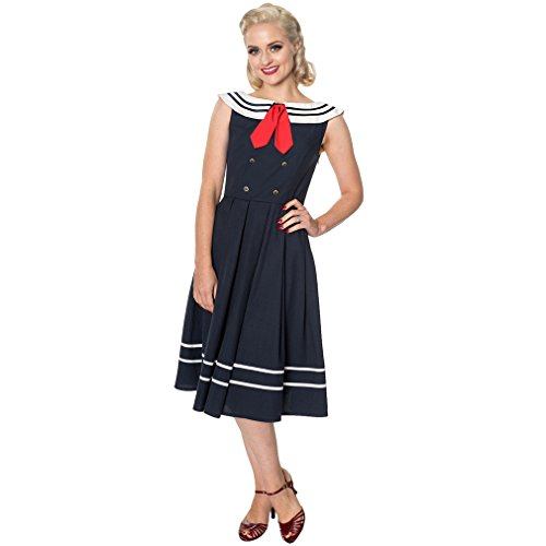 Sailor Jahre Kostüm 50er - Dancing Days Vintage Kleid - Aquarius L